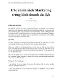 Các chính sách Marketing trong kinh doanh du lịch