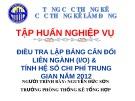 Bài giảng Điều tra lập bảng cân đối liên ngành (I/O) & tính hệ số chi phí trung gian năm 2012 - Nguyễn Đức Sơn