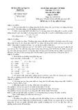 Đề thi học sinh giỏi cấp tỉnh Thanh Hóa có đáp án môn: Hóa học (Năm học 2013-2014)