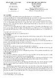 Đề thi chọn học sinh giỏi tỉnh Thanh Hóa có đáp án môn: Hóa học (Năm học 2010-2011)