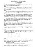 Đề thi giải toán bằng máy tính casio cấp tỉnh Thanh Hóa môn: Hóa học (Năm học 2009-2010)