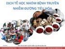 Bài giảng: Dịch tễ học nhóm bệnh truyền nhiễm đường tiêu hóa - GV. Hoàng Thị Phương Trang