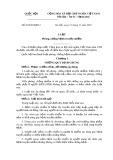 Luật Phòng, chống bệnh truyền nhiễm Số: 03/2007/QH12