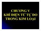 Bài giảng Cơ sở vật lý chất rắn: Chương 5 - ThS. Vũ Thị Phát Minh