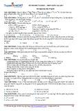 Đề thi thử đại học, THPT quốc gia 2015 môn: Hóa học