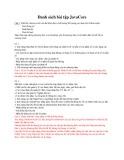 Danh sách bài tập JavaCore