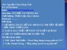 Bài giảng Tin học ứng dụng trong kinh doanh - Nguyễn Châu Hùng Tính