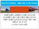 Bài giảng Phổ biến, hướng dẫn doanh nghiệp vận tải đảm bảo đúng điều kiện kinh doanh vận tải bằng xe ôtô (công - ten - nơ)