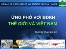Bài giảng Ứng phó với biến đổi khí hậu Thế giới và Việt Nam