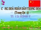 Bài giảng Tiết 2: Kinh tế Trung Quốc