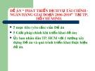 Đề án: Phát triển dịch vụ tài chính - ngân hàng giai đoạn 2006-2010 tại Tp. Hồ Chí Minh