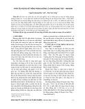 Phân tích rủi ro hệ thống phòng chống lũ vùng bờ Giao Thủy – Nam Định