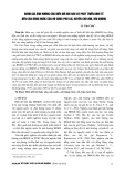 Đánh giá ảnh hưởng của biến đổi khí hậu và phát triển kinh tế đến cân bằng nước của hồ chứa Phú Lợi, huyện Chí Linh, Hải Dương