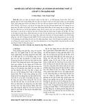 Nghiên cứu chế độ thủy động lực và đánh giá khả năng thoát lũ cửa Mỹ Á, tỉnh Quảng Ngãi