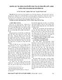 Nghiên cứu tác động của đê biển Vũng Tàu – Gò Công đến chất lượng nước vùng cửa sông Sài Gòn – Đồng Nai