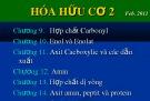 Bài giảng Hóa hữu cơ 2: Chương 9 - Andehit Xeton
