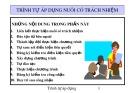 Bài giảng Trình tự áp dụng nuôi có trách nhiệm