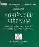 Một số vấn đề lịch sử, kinh tế, xã hội, văn hóa - Nghiên cứu Việt Nam: Phần 1