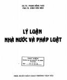 Ebook Lý luận nhà nước và pháp luật: Phần 1