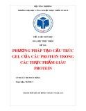 Bài tiểu luận: Phương pháp tạo cấu trúc gel của các protein trong các thực phẩm giàu protein