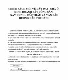 Văn bản hướng dẫn thi hành Chính sách mới về đất đai - Nhà ở - Kinh doanh bất động sản - Xây dựng - Đấu thầu: Phần 1