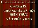 Bài giảng Những nguyên lý cơ bản của Chủ nghĩa Mác-Lênin: Chương 9 - ThS. Nguyễn Thị Huệ