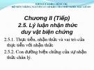 Bài giảng Những nguyên lý cơ bản của Chủ nghĩa Mác-Lênin: Chương 2.5 - ThS. Nguyễn Thị Huệ