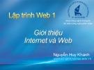 Bài giảng Lập trình web 1: Chương 2 - Nguyễn Huy Khánh