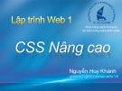 Bài giảng Lập trình web 1: Chương 6 - Nguyễn Huy Khánh