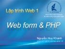 Bài giảng Lập trình web 1: Chương 10 - Nguyễn Huy Khánh
