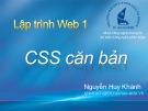 Bài giảng Lập trình web 1: Chương 5 - Nguyễn Huy Khánh