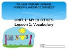 Unit 1 My clothes: Lesson 1 - Vocabulary