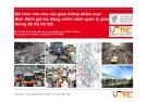 Báo cáo Mô hình hóa nhu cầu giao thông nhằm mục đích đánh giá tác động chính sách quản lý giao thông đô thị Hà Nội - TS. Vũ Anh Tuấn