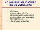 Bài giảng CAD/CAM/CNC: Bài 5 - ĐH Bách khoa TP. HCM