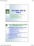 Bài giảng Tài chính tiền tệ: Phần 2 - ThS. Nguyễn Thị Kim Liên