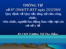 Bài giảng Thông tư số 07/2014/TT-BYT ngày 25/2/2014 - BS.CKII. Trương Thị Thu Hằng