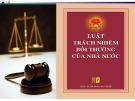 Bài giảng Luật Trách nhiệm bồi thường của Nhà nước