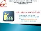 Bài giảng Kinh tế vĩ mô - ThS Trần Thị Hòa