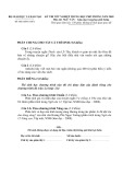 Đề thi tốt nghiệp trung học phổ thông năm 2009 môn: Ngữ văn