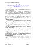 Bài giảng Tổ chức kinh doanh khách sạn - Chương 1: Những vấn đề cơ bản trong hoạt động kinh doanh khách sạn