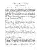 Đánh giá giá trị cảnh quan của vườn Quốc gia Ba Bể và khu du lịch hồ Thác Bà