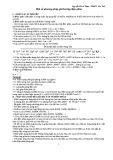 Một số phương pháp giải bài tập điện phân - Nguyễn Đình Tâm