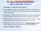 Bài giảng Hệ điều hành Windows 7