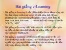 Bài giảng e-Learning (49tr)