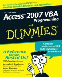 Ebook Microsoft office access 2007 VBA programming for dummies