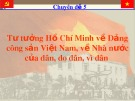 Bài giảng Tư tưởng Hồ Chí Minh về Đảng cộng sản Việt Nam, về Nhà nước của dân, do dân, vì dân