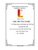 Báo cáo thực tập công nghiệp tại Tổng Công ty truyền hình cáp Việt Nam, chi nhánh Phú Thọ