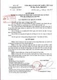 Quyết định Số: 526/QĐ-QLD