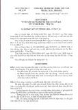 Quyết định Số: 237/QĐ-SYT