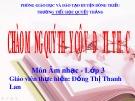 Bài giảng Âm nhạc 3: Tiết 6 - GV. Đồng Thị Thanh Lan